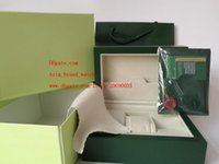 Wholesale Gift Box Factory - Factory Supplier Green Brand Original Box Papers Gift Watches Boxes Leather bag Card 185mm*134mm*84mm 0.7KG For 116610 116660 116710 Watch
