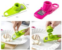 Wholesale Multi Slicer - Candy Color Garlic Press Multi-functional Grinding Garlic Mini Ginger Grinding Grater Planer Slicer Cutter useful in kitchen