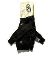 kuş baskısı toptan satış-Yeni erkek Sportwear Coat Jogging Yapan Eşofman Kazak Polar Kazak Crewneck Kuş OVO Drake Siyah Hip Hop Altın Hoodie Erkekler Köpekbalığı ağız baskı