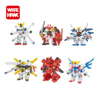 Wholesale Gundam Assembly Robots - wisehawk 6 styles colorful Gaoda Nano Figure Model Building blocks toys Action DC robot Figures am DIY assembly bricks 2358-2363