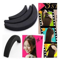 Wholesale Hair Bump Accessory - DIY Hair Bumpit Volume Beehive Hair Bump Pad Haight Tools 1 Set 3 pcs Black Volume Hair Base