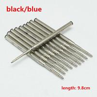 recarga de tinta de bolígrafo al por mayor-10 originales azules / tinta negra de alta calidad recarga de papelería MB para suavizar la recarga de bolígrafos