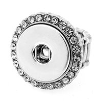 Moda DIY 18mm NOOSA Anel de diamante Mulheres Gengibre Snap Button Anel Jóias DIY Chunk Snap Button Ring