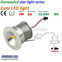 Wholesale Small Led Lights 24v - Wholesale- NEW 12V 24V DC for any where installation Mini cute light very small led downlight 3w made by high precision lathe