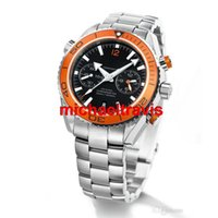 Wholesale Planet Ocean Sapphire - Top luxury brand Men's Style watch Quartz Chronograph watch wristwatch for men OM03 CO-AXIAL Planet Ocean sapphire glass free shipping