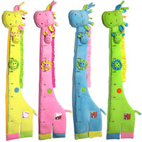Wholesale Height Gauges - Wholesale- Giraffe BB Measure Height Gauge with Bell Baby Educational Toys for Children