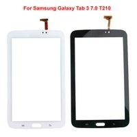 ingrosso sostituzione di vetro della linguetta della galassia-Touch Panel per Samsung Galaxy Tab 3 7.0 Touch Screen T210 con sostituzione obiettivo in vetro digitalizzatore