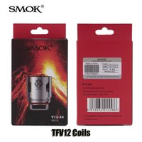 Wholesale Head Atomizer Core - Authentic Smok TFV12 Tank Coils Head V12-T12 Duodenary 0.12ohm V12-T6 V12-T8 0.16ohm V12-Q4 V12-X4 0.15ohm Atomizer Core