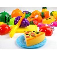 Wholesale Toy Cutting Fruits Vegetables - 24PCS Children Play House Toy Cut Fruit Plastic Vegetables Pizza Kitchen Baby Classic Kids Toys Pretend Playset Educational Toys