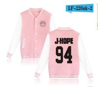 Wholesale Wholesale Youth Bow - 2017-HOT!BTS bulletproof youth group with the baseball clothing fleece sweater coat college wind should be served xxs-4xl