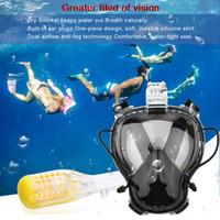 Wholesale Children Snorkel - Wholesale- new Diving Mask Scuba Mask Underwater Anti Fog Full Face Snorkeling Mask Children Kid Swimming Snorkel Diving Equipment