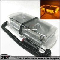 Wholesale Amber Mini Strobe Light Bar - Amber Yellow 24 LED 3 Gen Enforcement Emergency Warning Mini Lights Strobe Light Bar Lightbar Flashing Beacon Lamp Grille