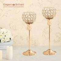 Wholesale modern sconce candle online - Wedding Table Centerpieces Candelabra Crystal Candlesticks Tealight Candle Holders for House Holiday Decoration Mothers Day Best Gift