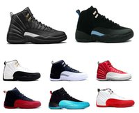 Vente en gros Air Retro 12 Chaussures de basket-ball en laine Deep Loyal Blue 12S Noir Blanc OVO Gym Rouge Flu Game Retro 12 chaussures