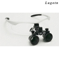 Wholesale loupe glasses dental - 2.5X times enlargement magnifying lens loupe glasses surgical operation magnifier adjustable sizable dental loupe