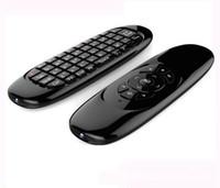 contrôleur de jeu téléviseur achat en gros de-Gyroscope Fly Air Mouse C120 Clavier de jeu sans fil Clavier Android Télécommande Rechargeable pour Smart TV Mini PC