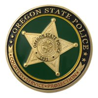 oregon state police - Oregon State Police OSP Gold Plated Challenge Coin Medal For Collect With Free Capsule