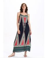 vestido de estilo sirena casual al por mayor-Las mujeres del estilo del euroamerican usan nuevos productos de alta calidad cinturón Condole vestido de encaje de impresión vestido de sirena vestido NR76122