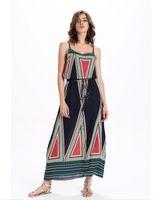 Wholesale Elastic Puff Long Sleeve - Women euramerican style summer wear new high quality products Condole belt elastic lace print dress dress mermaid dress NR76122