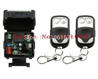 mini rf sender empfänger großhandel-Großhandel-AC 220 V 1 CH RF Mini drahtlose Fernbedienung 1 Stück Empfänger 2 Stück Sender wasserdicht 2 Schlüssel