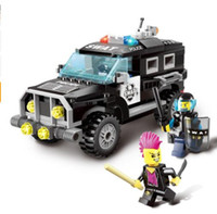 Wholesale Diy Police - City Series Police Swat Car Building Block sets Kids Educational Bricks Toys Compatible With diy