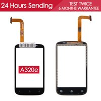 Wholesale Desire C - Wholesale- Tested AAA Quality Sensor Touchscreen Forhtc desire c touch screen A320e Digitizer Glass Panel Black Replacement Parts