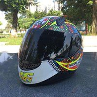 Wholesale Motorbike China - Motorcycle helmets motocross racing helmet motorbike full face dual shield helmet unisex available china supplier
