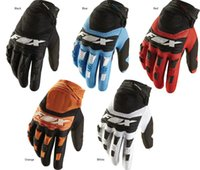 Wholesale Mountain Bikes Gloves - Free shipping motorcycle gloves New 2017 FOX mountain bike full finger cycling gloves 4 colors