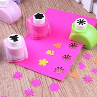 Wholesale Mini Craft Punches - Wholesale- 1 PCS Kid Child Mini Printing Paper Hand Shaper Scrapbook Tags Cards Craft DIY Punch Cutter Tool 16 Styles
