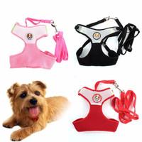 Wholesale Puppy Breathing - Pet Dog Puppy Cat Leash Vest Mesh Breathe Adjustable Harnes Chest Braces Clothes