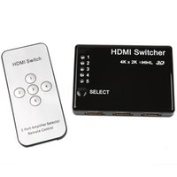 Wholesale Hdmi Switch Audio Out - High Quality 5 Port Dual Mode Switch Switcher MHL HDMI 4Kx2K 1080P Supports 3D IR Select Switch Box Out Audio Extractor Splitter