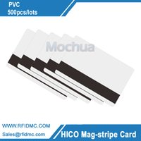 Wholesale Track Magnetic Card - Wholesale- DHL, FEDEX Hi-Co Blank PVC Magnetic Stripe Card with 3 track Printable By Plastic Card-500pcs lot