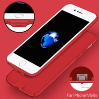 Wholesale Wireless Phone Charger Case - Qi Wireless Charger Receiver Case Cover 2 in 1 Phone Case Wireless Charging & Cable Charging for iphone7plus 6 6S Case Ultrathin Back Cover