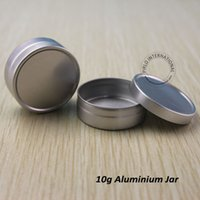 Wholesale Aluminium Cosmetic Containers - Wholesale 10g Empty Aluminium Cosmetic Containers Lip Balm Jar Box For Cream Ointment Hand Cream Packaging Container 200pcs