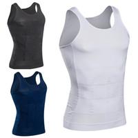 ingrosso cintura-Cinture per la perdita di peso per sport per uomo Body Body Tummy Shapers Gilet per intimo Corsetto Vita Muscle Cinture per camicie Fat Burn Posture Corrector