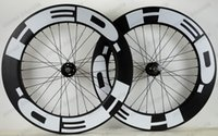 speed depth - Freeshipping c mm depth mm width clincher carbon wheels track wheel fixed gear single speed wheelset with hub Novatec