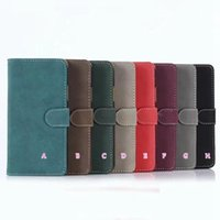 Wholesale id holder flip wallet online – custom Retro Matte Leather Wallet Case For Iphone G PC ID Card Slot Kickstand Stand Holder Luxury Fashion Flip Cover Skin Luxury Pouches