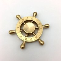 2017 Bateau à voile neuf Copper Rainbow Spinner à main Edc Decompression Toy Helmsman Fidget Spinner Design de volant Fidget Toy