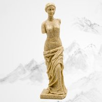 Wholesale Natural Handicrafts - 6.5*6.5*25.5Cm Western Statue Severed Arm Venus Natural Sandstone Handicrafts Gifts Home Furnishings Greek Roman Mythology Statue Sculpture