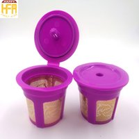 Wholesale Plastic Coffee Makers - New Arrival Coffee Filter K Cup Office Home Supplies Reusable Eco-Friendly Etching Mesh Espresso Maker Cup Coffee Capsules Drip Cups