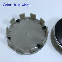 Wholesale Wholesale Chrome Rims - Free Shipping 68mm 10 pin M power blue white black white Wheel Center Hub caps Rim Caps Logo Emblem Badge for 1,3,5,7 36136783536