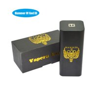 Wholesale New Hammer Mod - Wholesale- New Arrivel Electronic cigarette hammer of god V3 Box Mods E Cig Mech box Mods for RDA RBA Atomizer fit 4pcs 18650 battery