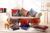 Wholesale flowers living room sofa for sale - 45cm cm D dimensional painting trees flowers cotton cushion and pillow for sofa chair bed living room bedroom free delivery