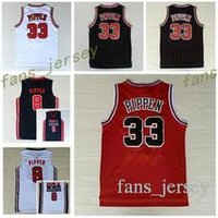 ce4e4ab40a6 Basketball Men Sleeveless NWT 33 Scottie Pippen Jersey Throwback Uniforms 1992  USA Dream Team Scottie Pippen