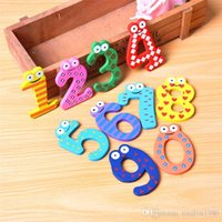 Wholesale Kids Number Toys - Children's Toys Wooden numbers Alphabet Fridge Magnets Puzzle toys Children's Christmas Creative gifts Kids wooden toys magnetic