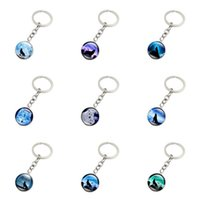 Wholesale Gemstone Europe Ship - Free shipping Galaxy Star Time Gemstone Keychain Pendant Foreign Trade Jewelry Key Chain R148 Arts and Crafts mix order