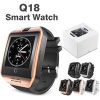 Wholesale Used Apple Wholesale - Q18 Smart Watch Bluetooth Smartwatches Support SIM Card NFC Connection Health For Android Smartphone with Retail Package