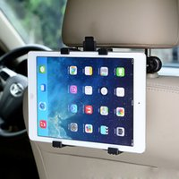 "Wholesale Tablet Car Mount Clip - Wholesale-Universal Adjustable Car Mount Headrest For IPad 2 3 4 5 Mini 7""-11"" Tablet PC Multi Holder Bracket Clip Car Seat Holder Stand"