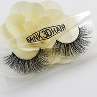 Wholesale Hair Make Pure - Natural False Eyelashes 3D Mink Crisscross Fender Soft Realistic Fake Eyelashes 100% Pure Hand Cotton Thread Stitching Stage Messy Lashes