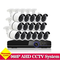 Wholesale 16 Channel Network Video Recorder - 16 channel Surveillance DVR Kit CCTV Security Camera System Network Video Recorder 16pcs 1280*960P Outdoor Cameras NO HDD